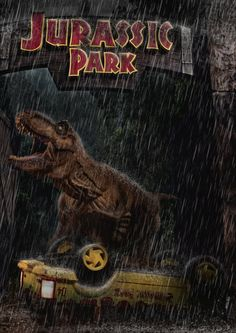 Jurassic Park - T-rex Main Road Attack by tomzj1 on deviantART