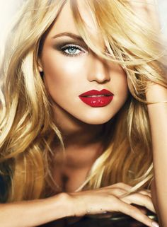 Fabulous Red Lips and great hair -sexy