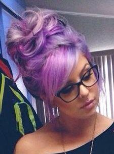 Purple updo, gorgeous.