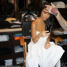 First born: That being said, Kourtney - who got breast implants at age 22 - is arguably the most natural member of her fame-hungry family