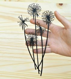 Dandelion Seedheads Paper Cut Art | Bird Mafia