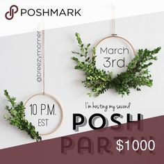 Come join me! I am hosting my second Posh Party on March 3rd! This time it's a night time party, and I am thrilled to have this opportunity again! I will be on the hunt for amazing cover shots, unique items, from Posh Compliant closets. More details to come!!! THANK YOU in advance for all the love! ❤️ Madewell Accessories