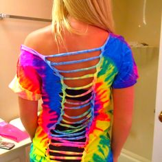 Cute diy cut shirt. Watch Macbarbie07 or Stilababe09 on youtube for details.
