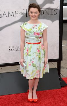 OMG! Arya! What a doll.  Premiere Of HBOs Game Of Thrones Season 3 - Arrivals
