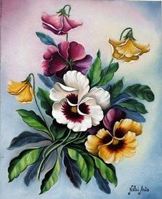 Motivos , ideias e cia: flores Can you tell that I love vintage pansy images?