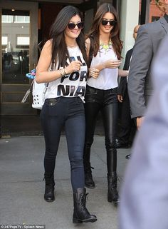 Kalifornia girls! Kendall and Kylie Jenner were spotted after an appearance at a Pacsun popup shop on Tuesday