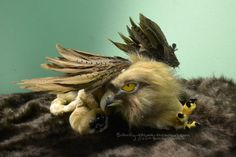 Eagle Griffin Poseable Art Doll by BasilFoxCreations on Etsy