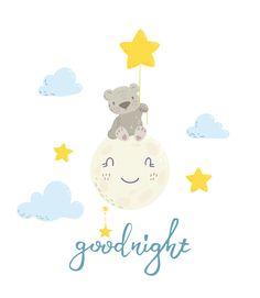 Good Night Greetings, Good Night Wishes, Good Night Quotes, Cute Good Night, Good Night Image, Good Morning Good Night, Cute Little Drawings, Cute Drawings, Bebe Vector