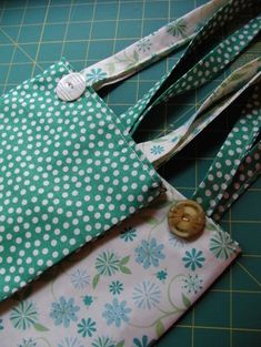 Just two fat quarters! So cute.
