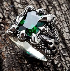 emerald mens rings