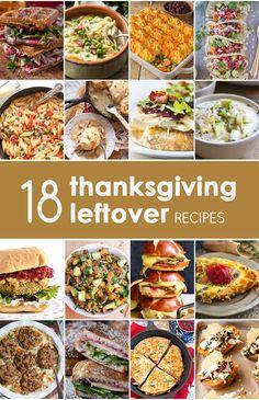 18 Thanksgiving Leftover Recipes