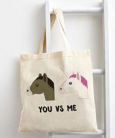 Look what I found on #zulily! Horse & Unicorn Emoji Tote #zulilyfinds