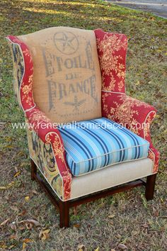 Vintage Upholstered Wingback   Vanessa's by ReNewalHomeDecor, $1600.00