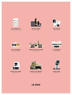 Buy the Poster Le Duo - Architecture from Image Republic, on Made in Design - 48 to 72 hours delivery. Image Republic, Modern Villa Design, Brand Icon, Futuristic City, House Drawing, Portfolio, Graphic Design, Character, Behance