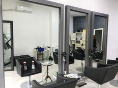 Serie di specchi con cornice in ferro industrial con saldature a vista
