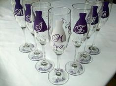 Cute glasses for the bridal party.