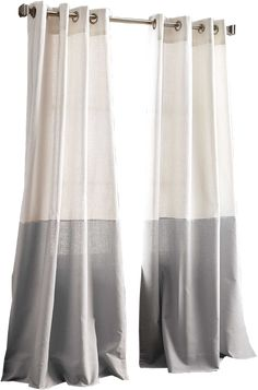 Mixing fashion and function, the Color Band Window Curtain Panel from DKNY is an easy way to style and privacy to your home decor. This cotton curtain features a color-block design with a touch of printed metallic to complete this contemporary look. Color Block Curtains, Tab Curtains, Grey Curtains, Modern Curtains, Colorful Curtains, Bedroom Curtains, Valance, Cortina Wave, Scandinavian Curtains