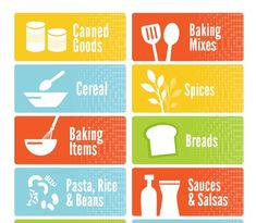 Cute printable pantry labels to keep your pantry organized and help your family put things away where they belong!