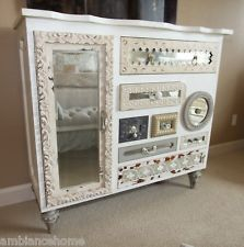 Unique Guildmaster Chest of Drawers with Framed Mirrored Fronts Shabby Chic