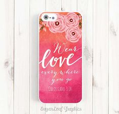 Bible Verse Quote iPhone 6 Case Colossians by theSugarloafBoutique