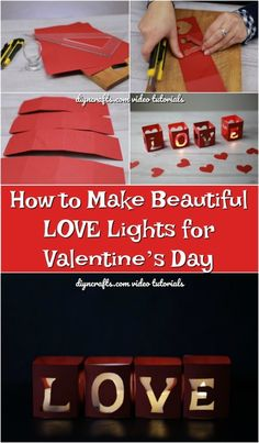 How to Make Beautiful LOVE Lights for Valentine's Day Video Tutorial. This amazing image collections about How to Make Beautiful LOVE Lights for Valentine Day Video, Homemade Valentines, Valentine Day Crafts, Valentine Ideas, Beautiful Love, Beautiful Lights, Valentines Day Decorations, Crafts To Make, Diy Crafts
