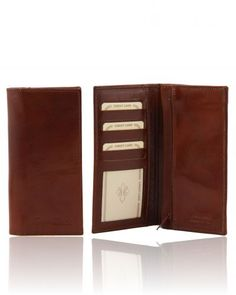 TL140777 Exclusive vertical 2 fold leather wallet for men - Esclusivo portafoglio verticale in pelle uomo 2 ante