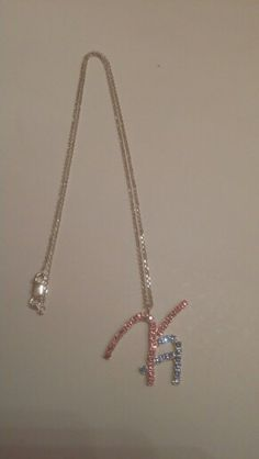 """KaAb Designs pendant and 18"""" sterling silver diamond cut rolo chain"""