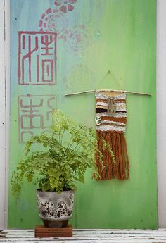 Paint Plants and Weaving by Janice Issitt