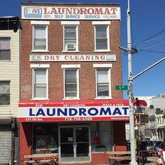 "GaryさんはInstagramを利用しています:「5th Ave Laundromat featuring ""Self Service Service"" in Sunset Park, Brooklyn. #sunsetpark #sunsetparkbrooklyn #mybrooklyn #storefront…」"