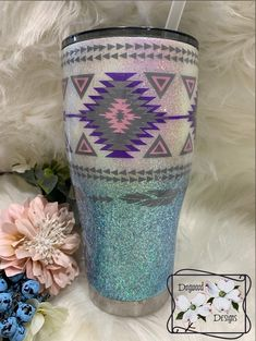 Excited to share this item from my shop: southeastern Hogg tumbler Personalized Tumblers, Custom Tumblers, How To Dye Fabric, Dyeing Fabric, Diy Tumblr, Insulated Mugs, Yeti Cup, Cute Cups, Glitter Cups