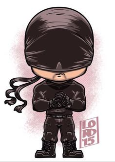 Daredevil: the Masked Man! Finished plowing through all 13 episodes of Daredevil…WOW! A new benchmark on how superhero properties should be done! The perfect combination of writing, directing,. Chibi Marvel, Marvel Dc Comics, Marvel Heroes, Chibi Characters, Marvel Characters, Cartoon Drawings, Cartoon Art, Comic Books Art, Comic Art