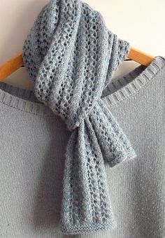 Ravelry scarf knit pattern tutorial  http://www.ravelry.com/patterns/library/little-leaf-lace-scarf
