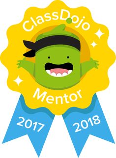 I was very excited to receive this cute Classdojo  mentor badge in my e-mail. I have been using this website platform in my high school cl...