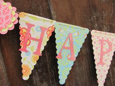 Happy Birthday Banner, Birthday Banner, Happy 1st Birthday Banner, Happy Birthday Girl Banner 1st Birthday, by twogirlspaperdesign on Etsy https://www.etsy.com/listing/117160082/happy-birthday-banner-birthday-banner