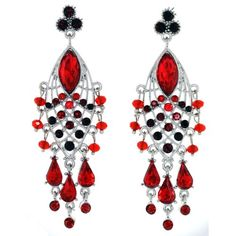 Austrian Crystal Dazzling Chandelier Fashion Earrings Red Mevoi And Things To Just