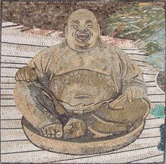 The Laughing Buddha Mosaic Mural