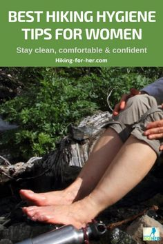 Looking for the best hiking hygiene tips as a female hiker? We all want to feel clean, comfortable and confident during a hike, and here's how to achieve those 3 C's. hiking Best Hiking Hygiene Tips For Women: Stay Clean & Confident As A Hiker Thru Hiking, Camping And Hiking, Outdoor Camping, Tent Camping, Camping For Women, Hiking The Appalachian Trail, Glamping, Hiking Gear Women, Hiking Usa