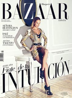Harper's Bazaar Spain Cover  Model: Candice Swanepoel  Photographer: Koray Birand  Designer: Balmain