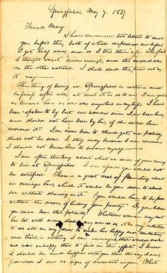 Abraham Lincoln's awkward break-up letter to Mary Owens: breaking off an engagement that wasn't American Revolutionary War, American Civil War, American History, Abraham Lincoln Family, Interesting History, Interesting Stuff, Live Picture, Civil War Photos, Weird Stories