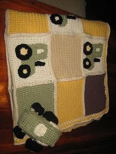 John Deere Diaper Cake Patterns | Carrie's Crochet Designs: John Deere Tractor Baby Blanket