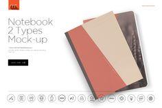 Notebook 2 Types Mock-up by mesmeriseme.cube on @creativemarket