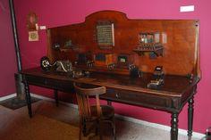 Antiguo telegrafo del museo del ferrocarril en Madrid