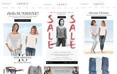 Ein Blick auf den Newsletter von Esprit