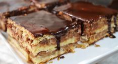 Vyskúšajte tento voňavý, lahodný a extrémne chutný jablkový koláč s kefírom a čokoládovou polevou podľa receptu z youtube. Budete sa zalizovať až za ušami!Potrebujeme:Na cesto:200 g kefíru200 g masla500 g hladkej múky3 žĺtkyvanilínštipku soli1/2 ČL … Pie, Desserts, Food, Apple Tea Cake, Bakken, Torte, Tailgate Desserts, Cake, Deserts
