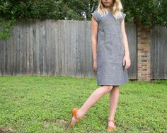 Stitched Together: The Miss Polly Dress in Kaufman Railroad Denim