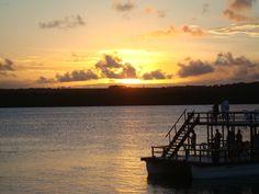 Por do Sol na Praia do Jacaré, Paraíba/PB - Brasil