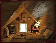 I would love a simple small room like this! attic or basement bedroom, sounds perfect!