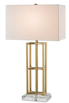 Currey and Company 6801 Devonside High Table Lamp Dimensions:Fixture Height: Specifications:Number of Bulbs: Base: Medium Bulb Types: Incandescent, CFL, LEDBulb(s) Included: NoWatts per Bulb: Wattage: 120 Coffee Brass / Clear