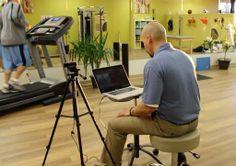 Therapydia Omaha clinic director, Adam, performing a running analysis.
