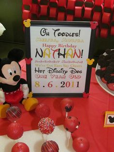 "Photo 3 of 24: Mickey Mouse / Birthday ""Mickey Mouse 1st Birthday"" 